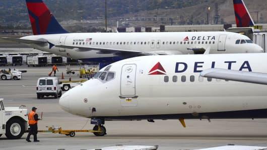 Delta Airlines passenger planes