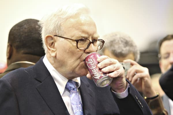 Warren Buffett drinks several cans of Coke a day.