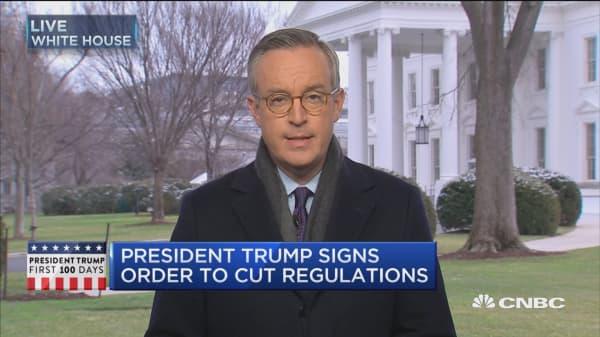 Trump: Big businesses are 'thrilled'