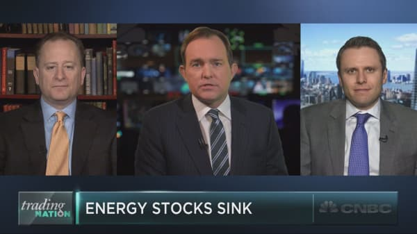 Energy stocks tank