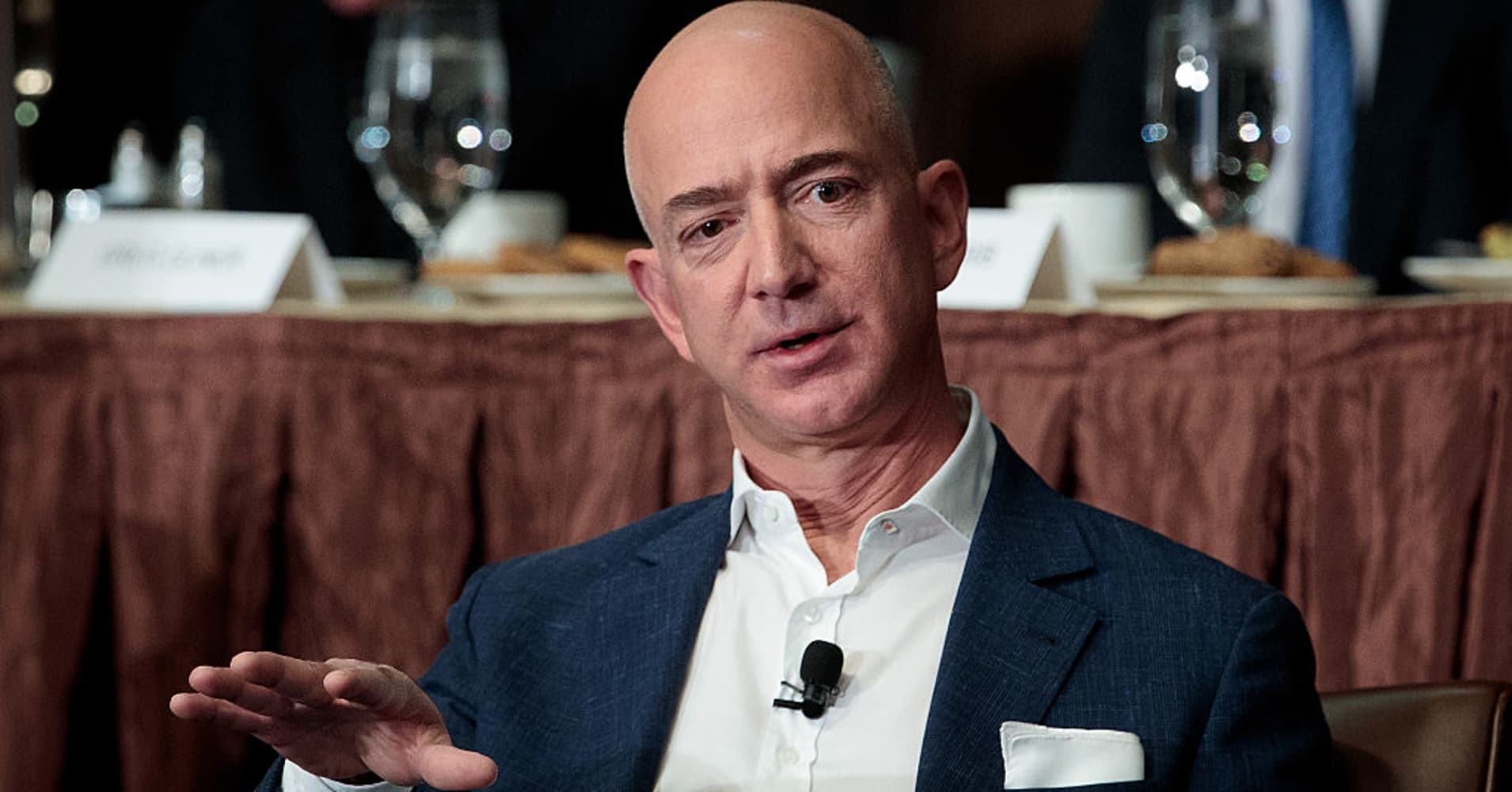 Jeff Bezos, Chairman and founder of Amazon