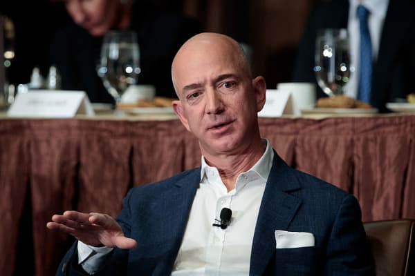Jeff Bezos, Chairman and founder of Amazon