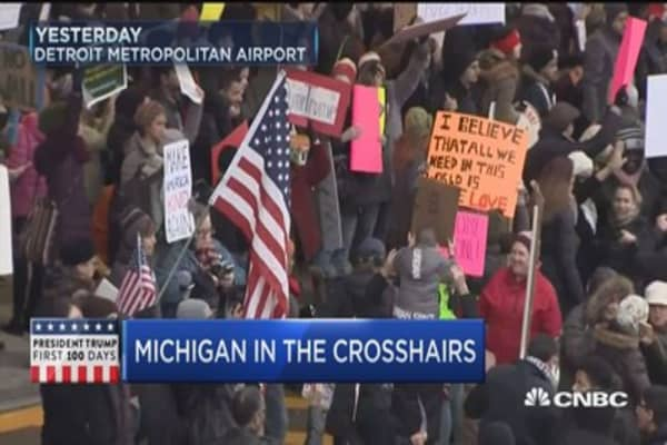 Michigan in the crosshairs