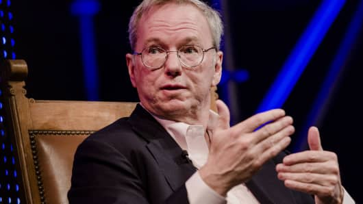 Eric Schmidt, chairman of Alphabet Inc.