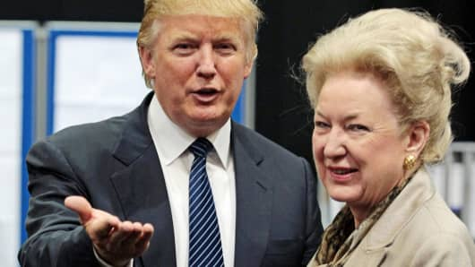 Donald Trump with his sister Maryanne Trump Barry in 2008.