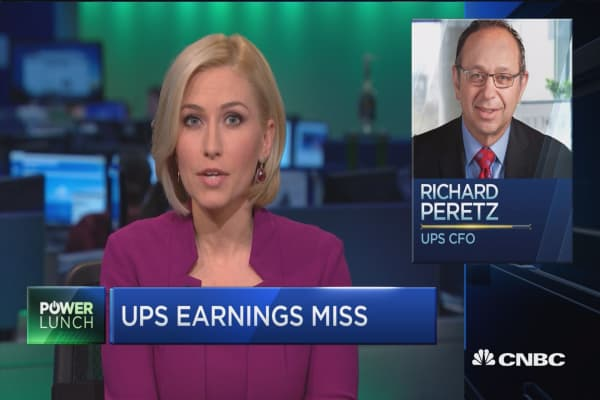 E-commerce growth takes a toll on UPS earnings