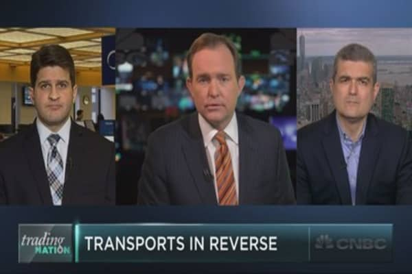 Transport stocks go in reverse