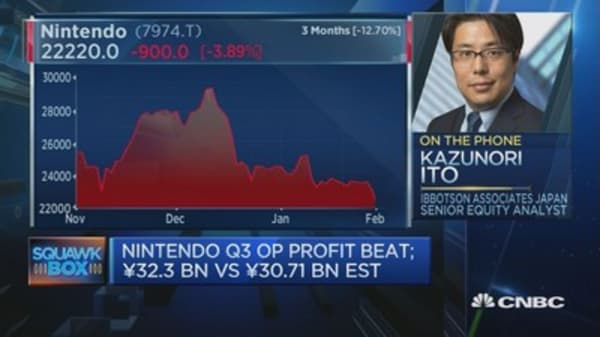 Silver lining for Nintendo earnings