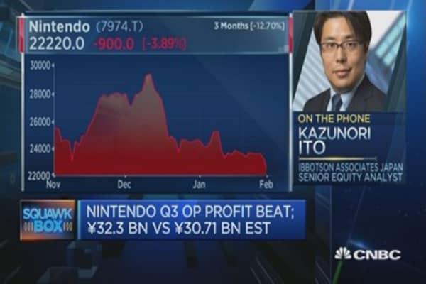 Silver lining for Nintendo earnings