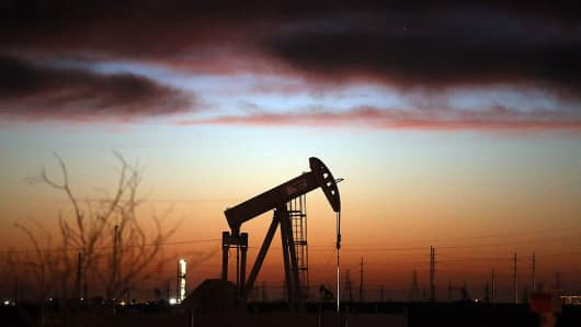 Oil pumpjacks in the Permian Basin oil field are getting to work as crude oil prices gain.