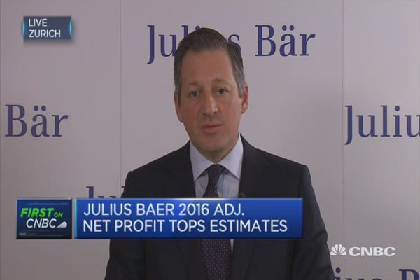 We've tripled number of bankers hired in 2016: Julius Baer CEO