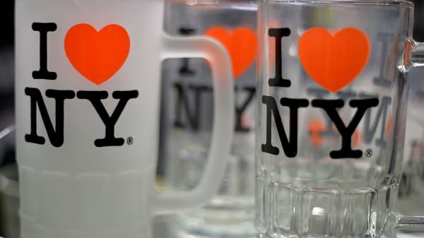 "Souvenirs with the ""I Love New York"" tag line"