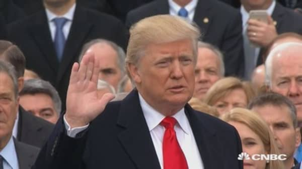 Donald Trump sworn in to become America's 45th president