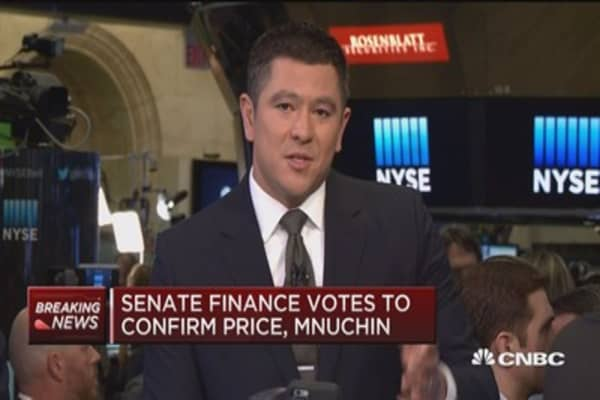 Senate Finance votes to confirm Price and Mnuchin