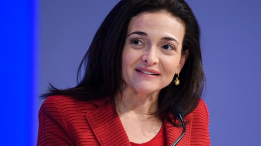 Sheryl Sandberg, Chief Operating Officer (COO) of Facebook.