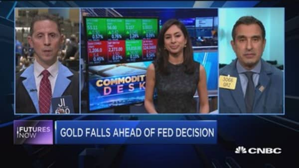 Futures Now: Gold falls ahead of Fed decision