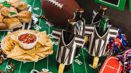 Super Bowl snacks beer