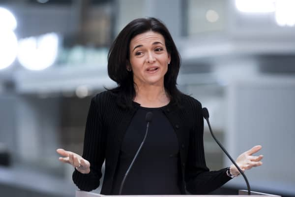Facebook COO Sheryl Sandberg announces Facebook will support startups at the future startup incubator.