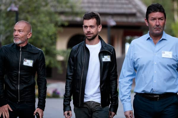 Aviv 'Vivi' Nivo, venture capitalist and major shareholder in Time Warner, Jack Dorsey, co-founder and CEO of Twitter, and Steve Easterbrook, president and CEO of McDonalds.