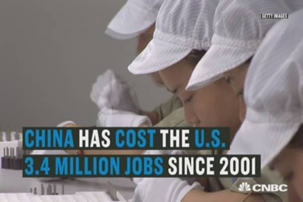 Here's how many jobs China actually stole from the US