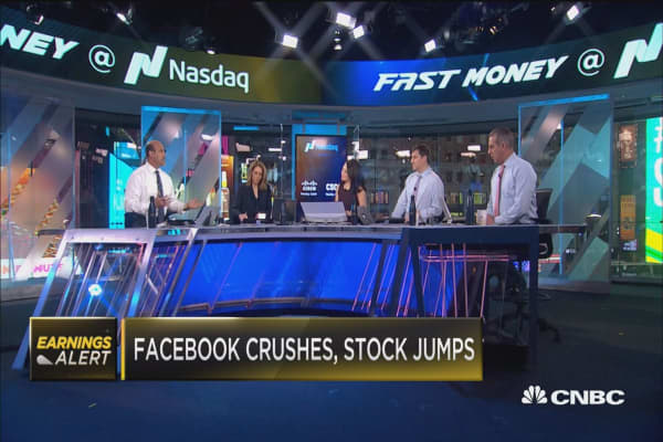 Facebook crushes, stock jumps