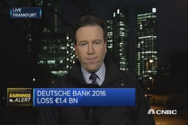 Deutsche Bank announces 2016 loss of 1.4 billion euros