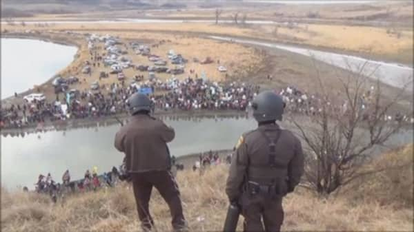 US veterans vow to block completion of Dakota Access pipeline