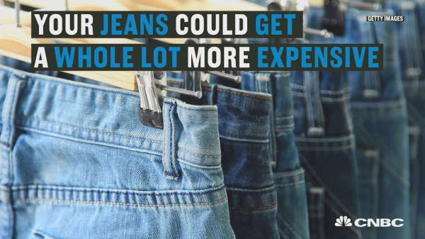 Men's jeans could get more expensive if there's a trade war with Mexico