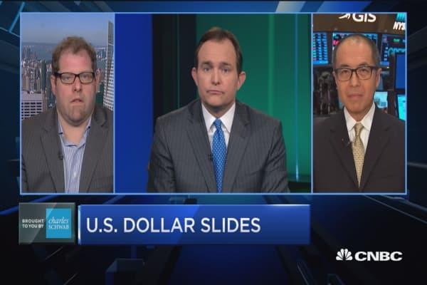 Trading Nation: US dollar slides