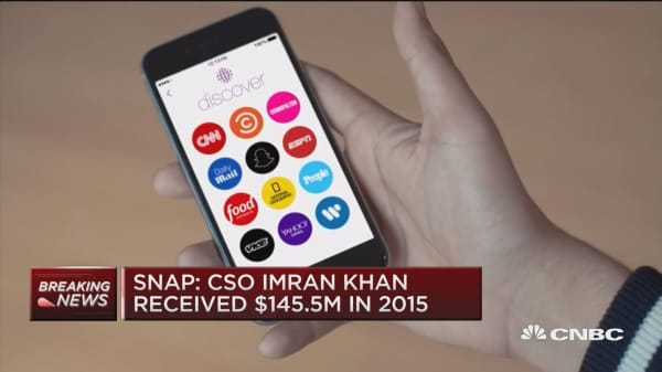 Snap: CSO Imran Khan recieved $145.5M in 2015