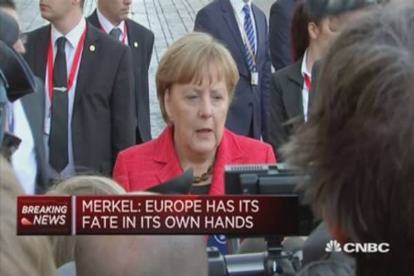 Europe has its fate in its own hands: Merkel