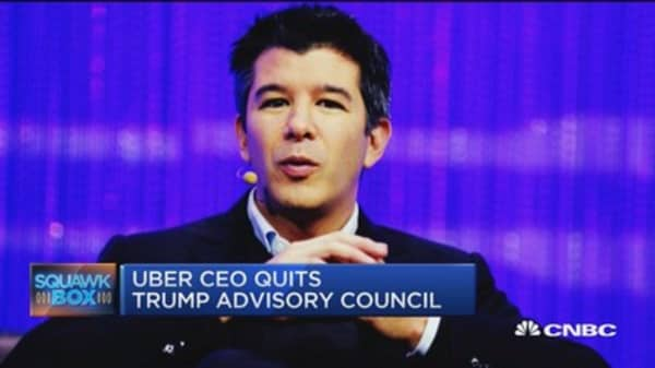 Uber CEO quits Trump's advisory council