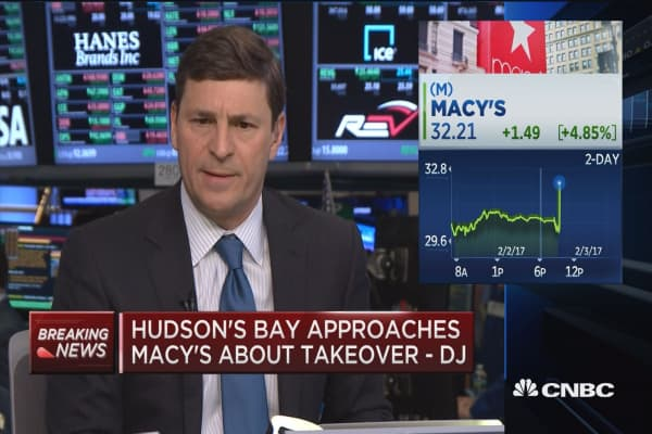 Hudson's Bay approaches Macy's about takeover -DJ