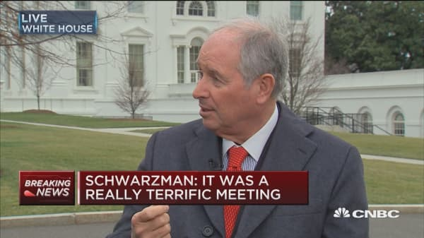 Schwarzman: Lower corporate taxes a prominent topic