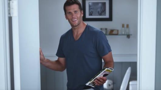 Tom Brady in an Intel Super Bowl LI advertisement.