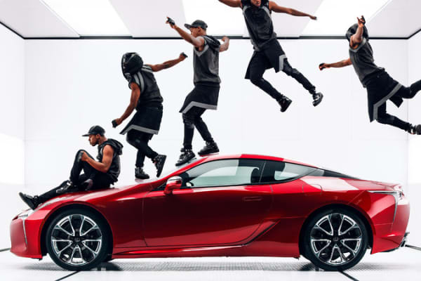 An image from Lexus' Super Bowl advertisement.