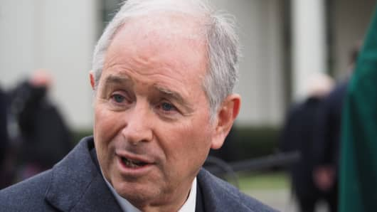 Steve Schwarzman, co-founder, chairman and chief executive officer of Blackstone Group LP.