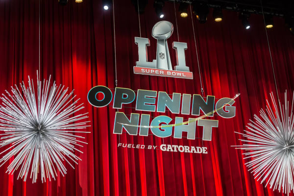 Super Bowl Opening Night fueled by Gatorade.