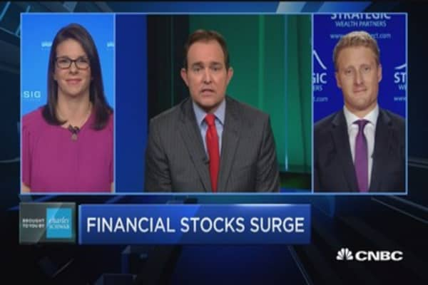Trading Nation: Financial stocks surge