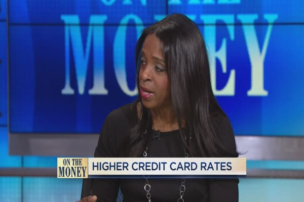 Rising credit card rates