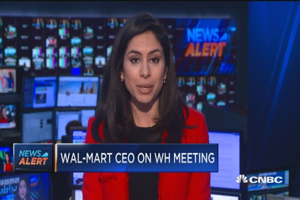 Wal-Mart CEO on meeting with Trump: Dialogue was constructive & candid