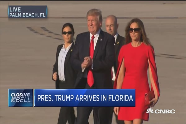 President Trump arrives in Florida