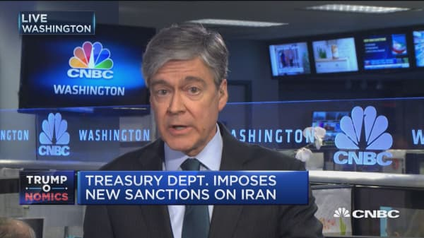 Treasury Department imposes new sanctions on Iran