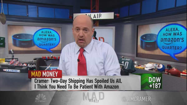 Cramer: Two-day shipping spoiled us all, so be patient with Amazon