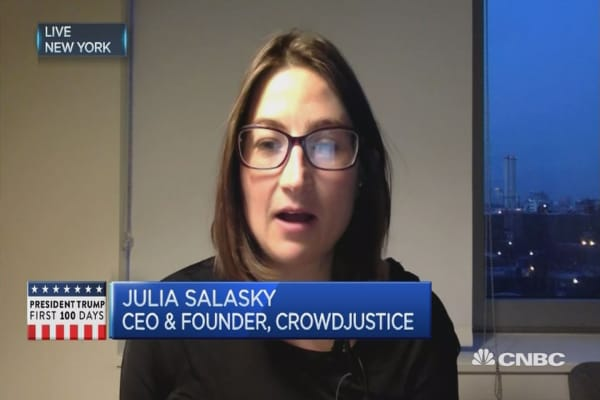 Crowdfunding for legal cases