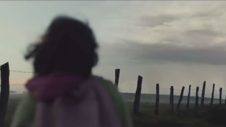 A still image from the 84 Lumber Super Bowl TV ad.