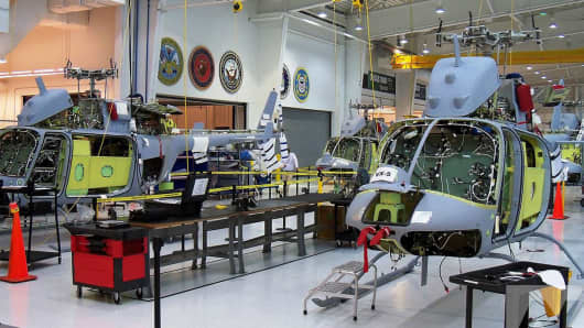 Northrup Grumman MQ-8C Fire Scout unmanned helicopters