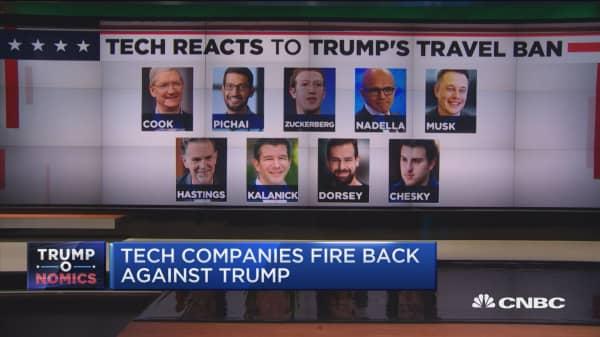 Tech companies fire back against Trump's travel ban