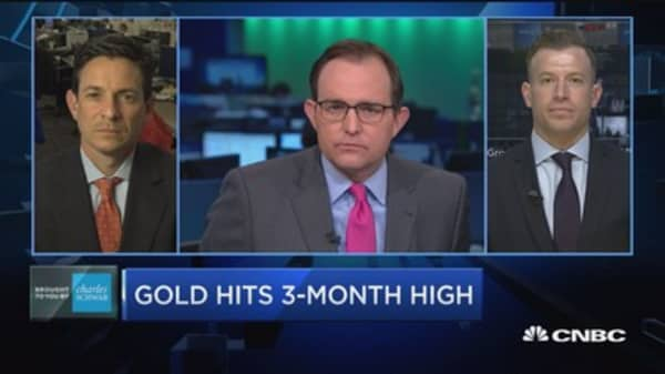 Trading Nation: Gold hits 3-month high