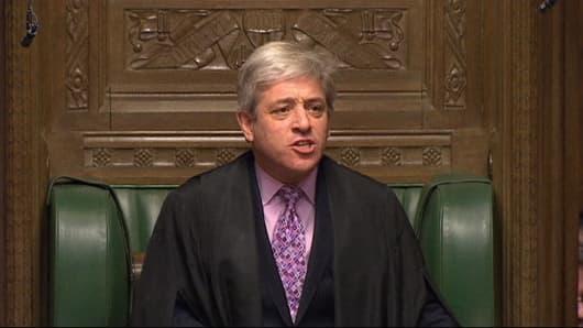 Speaker of the House of Commons, John Bercow.